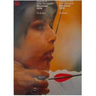 1976 Montreal Olympics Archery Poster