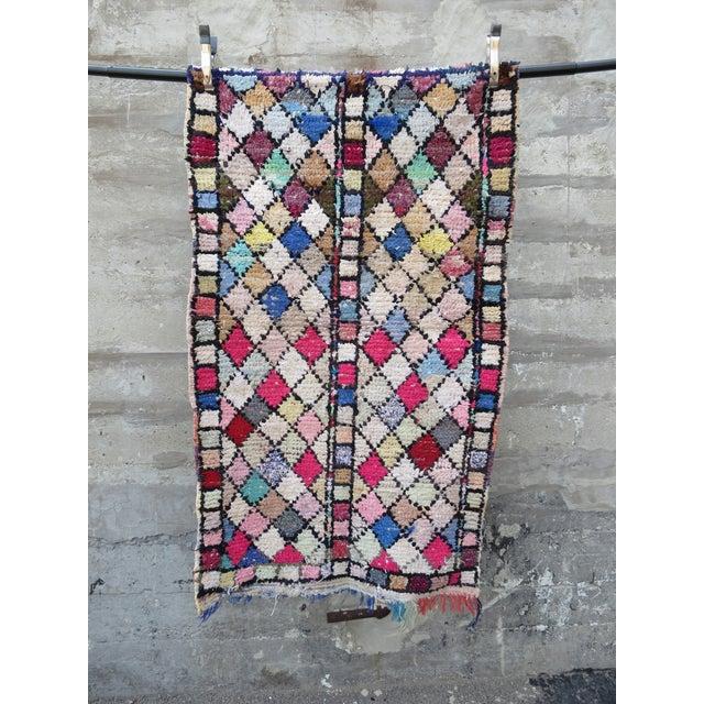Vintage Moroccan Boucherouite Rug - 3′ × 5′3