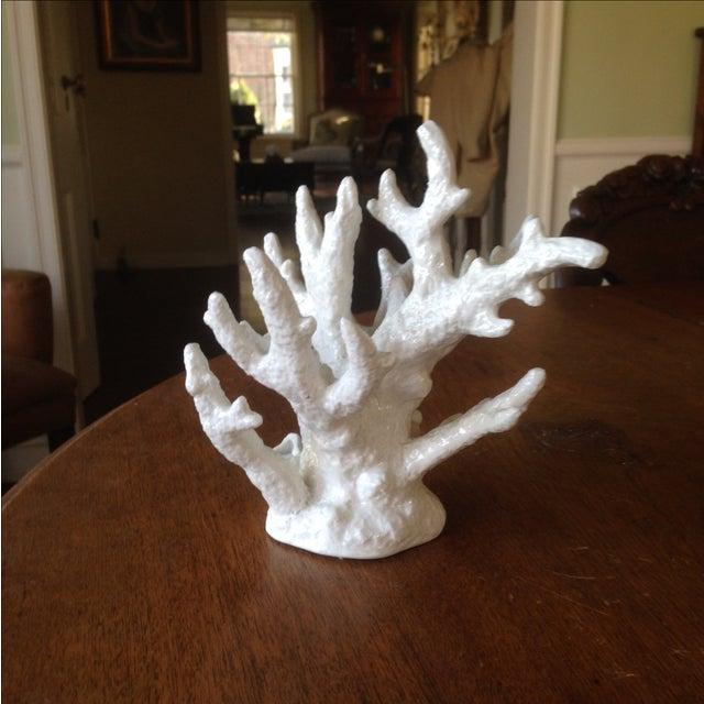 Vintage White Porcelain Coral Accent Piece - Image 5 of 11