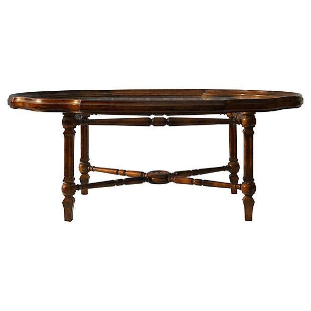 Drexel Tray Style Glass Top Coffee Table Chairish