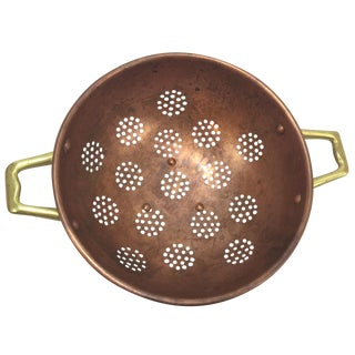 Copper Colander, Heavy Gauge Europa Collection