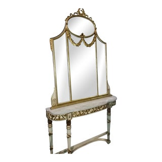 Labarge Console Table & Mirror