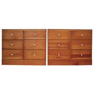 Pine Shaker-Style Bachelor Chests - A Pair