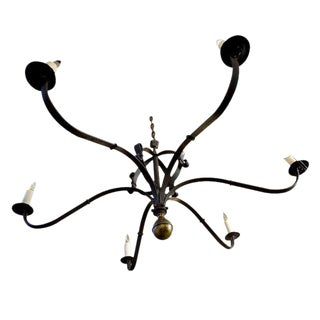"""Defiance"" Hand-Forged Iron and Brass Chandelier"