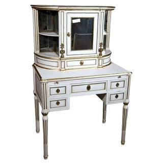 Maison Jansen French Louis XIV Secretary Desk & Hutch