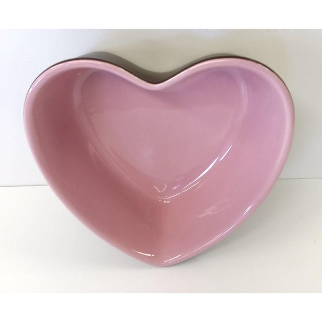 Chantal Pink Ceramic Heart-Shaped Bowl - Image 4 of 7