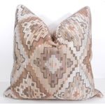 Image of Cream and Beige Navajo Print Pillow