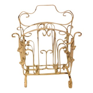 French Rococo Cast Iron Magazine Rack