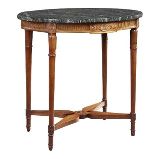 Louis XVI-Style Mahogany Center Table