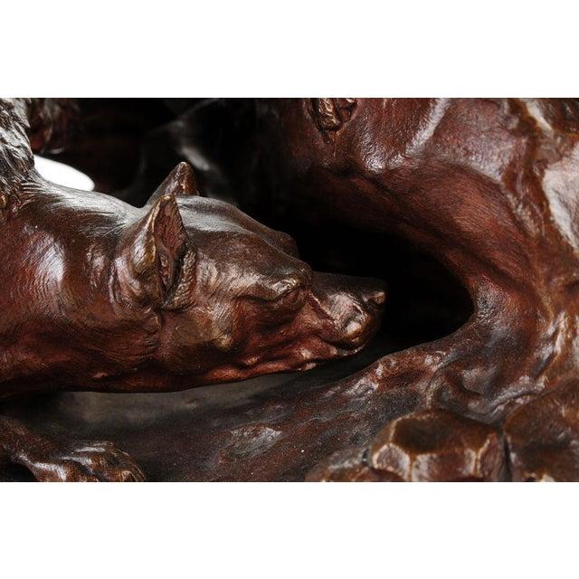 """Pierre-Jules Mene '3 dogs Ferreting"""" Original Bronze Sculpture c.1890s - Image 10 of 11"""