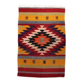 "Handmade Flat Woven Wool Kilim Rug - 2'2""x3'3"""