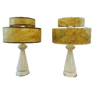 Retro Atomic/Sputnik Style Lamps - Pair