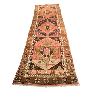 "Vintage Turkish Oushak Runner - 3'3"" X 11'8"""