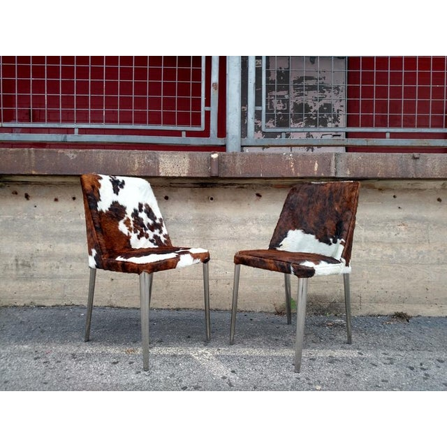 Gambrell Renard Cowhide Chairs - A Pair - Image 2 of 4