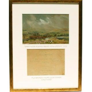 """""""Dartmoor Hounds above Hexwothy"""" Watercolor"""