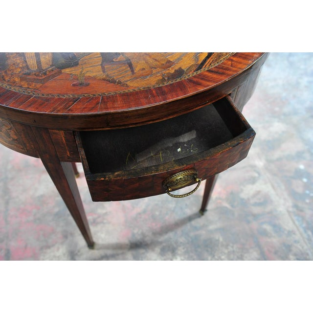18th Century Oval Revolving Game Table - Image 5 of 10