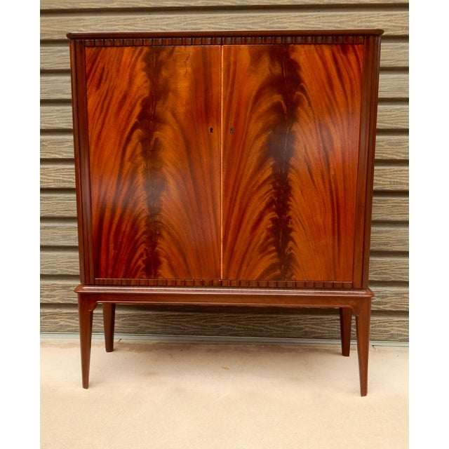Swedish Moderne Cabinet in Flame Mahogany, 1940's - Image 2 of 10