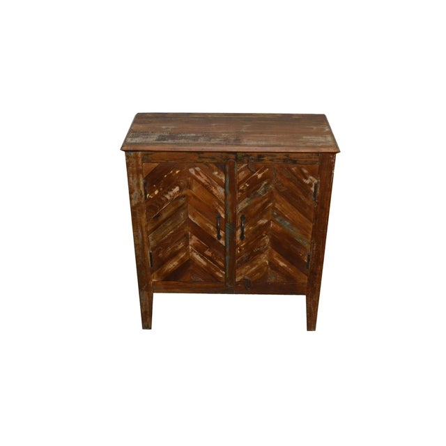 Image of Reclaimed Wood Rustic Nightstand
