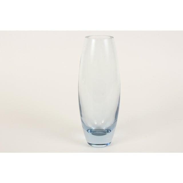 Image of Holmegaard Clear Blue Glass Hellas Vase