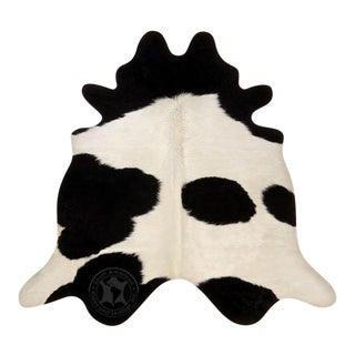 Brazilian Black & White Cowhide - 7′ × 7′