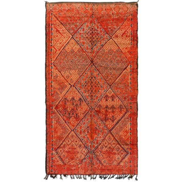 excellent mid century modern bedroom referencias san and | Moroccan Mid-Century Modern Rug - 6′ × 10′10″ | Chairish