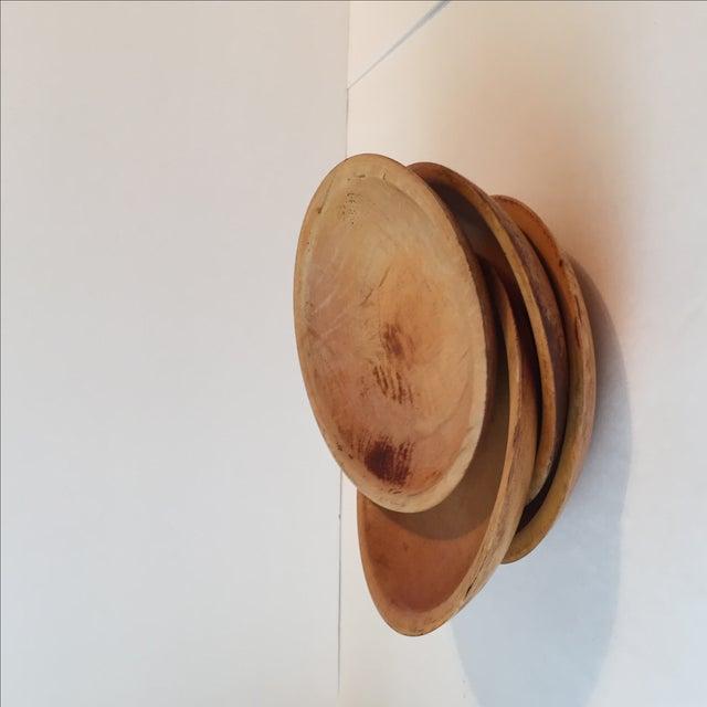 Primitive Wood Bowls - Set of 4 - Image 8 of 11