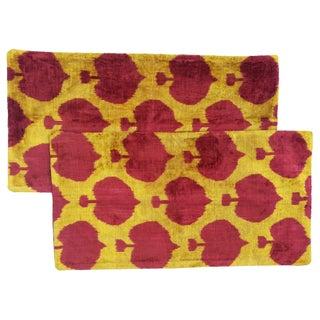 """Turkish Ikat """"Spade"""" Patterned Pillows - A Pair"""