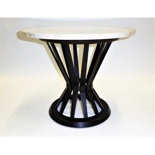 Edward Wormley Mid Century Modern Sheaf of Wheat Marble Top End Table for Dunbar 1950s .