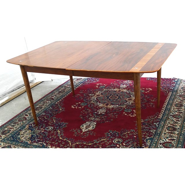 Refinished Vintage Mid Century Modern Dining Table - Image 2 of 7