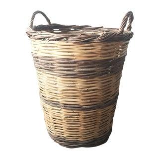 Two-Handled Splint Woven Basket