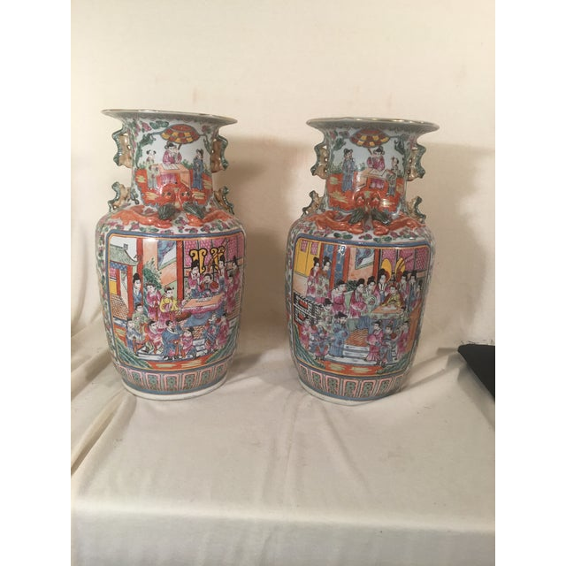 Chinese Rose Medallion Porcelain Vases - A Pair - Image 2 of 11