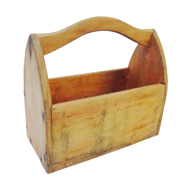 Wooden Tool Box Carrier Caddy - Image 1 of 5