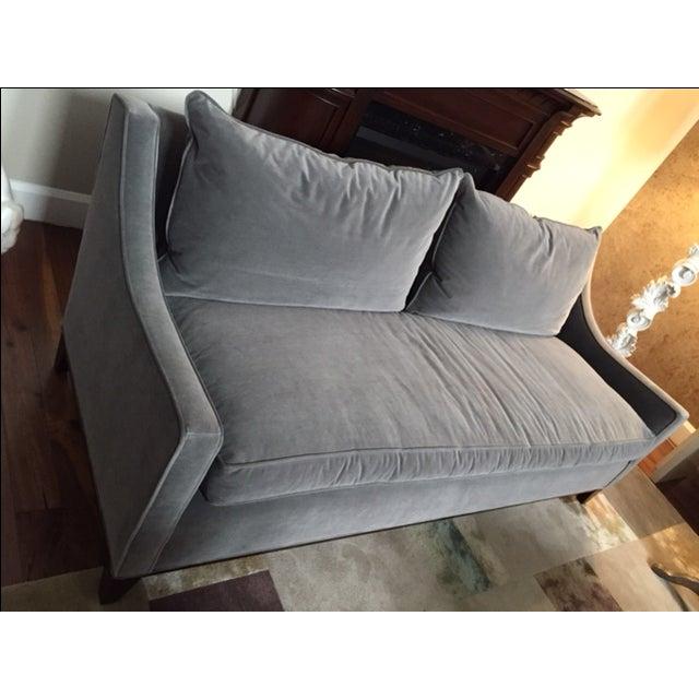 William Sonoma Gray Velvet Presido Sofa - Image 4 of 4