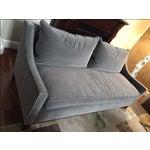 Image of William Sonoma Gray Velvet Presido Sofa