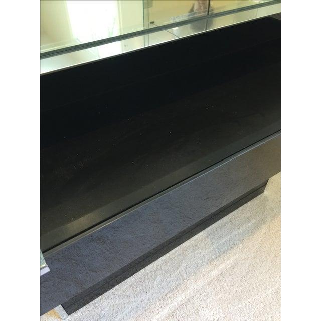 Ello Black Glass Curio Cabinet Desk - Image 7 of 11