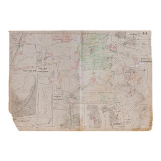 Vintage Hopkins Map of Lewisboro Pound Ridge Goldens Bridge Lake Katonah