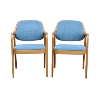 Don Petitt for Knoll Mid-Century Bentwood Chairs - A Pair