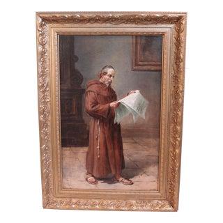 Antique Portrait of a Monk