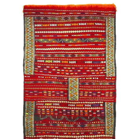 "Moroccan Carpet - 4'6"" x 2'9"" - Image 1 of 2"