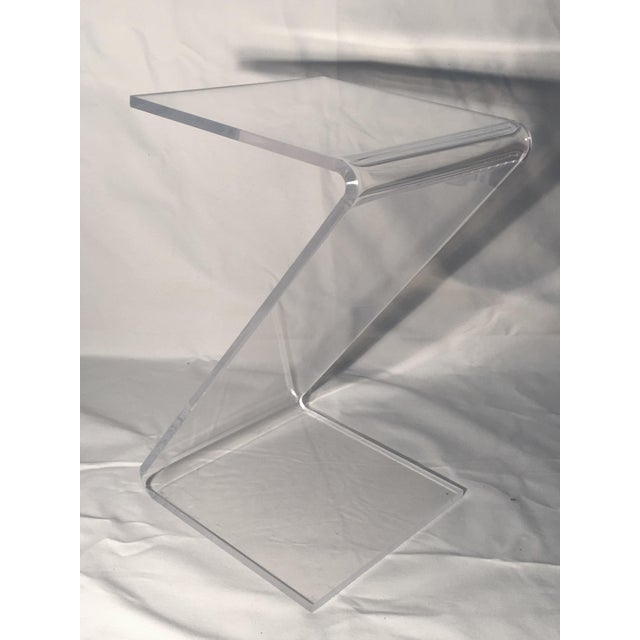 Image of Mid-Century 'Z' Cantilevered Lucite End Tables - 2