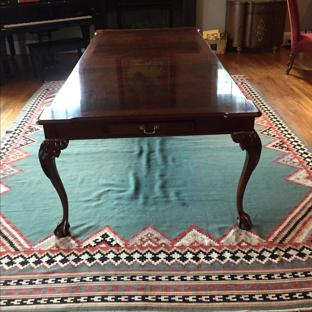 Henredon Dining Table With 2 Leaves - Image 3 of 9