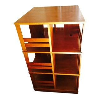 Danish Teak Revolving Bookcase