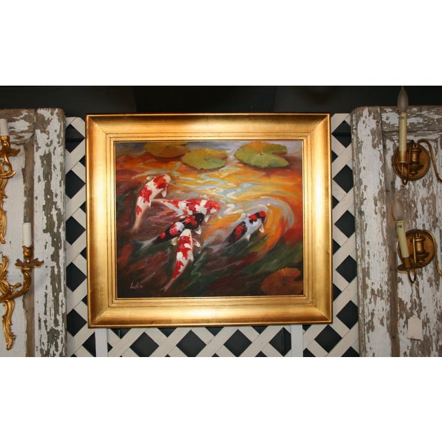 Image of Colorful Signer Koi Painting