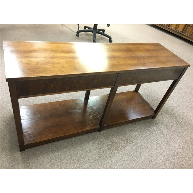Vintage Wood and Chrome Console/Sofa Table - Image 7 of 10