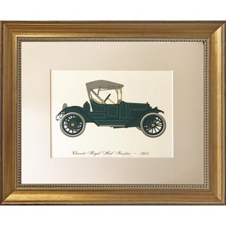 Vintage Automobile Lithograph 1914 Chevrolet Royal Mail Roadster