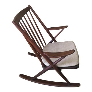 Danish Modern Rocking Chair by Frank Reenskaug for Bramin Mobler