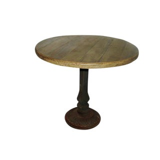 Vintage French 1900s Cast Iron Bistro Table