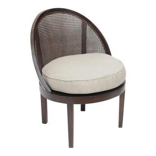Distinctive Mahogany Cane Back Chair