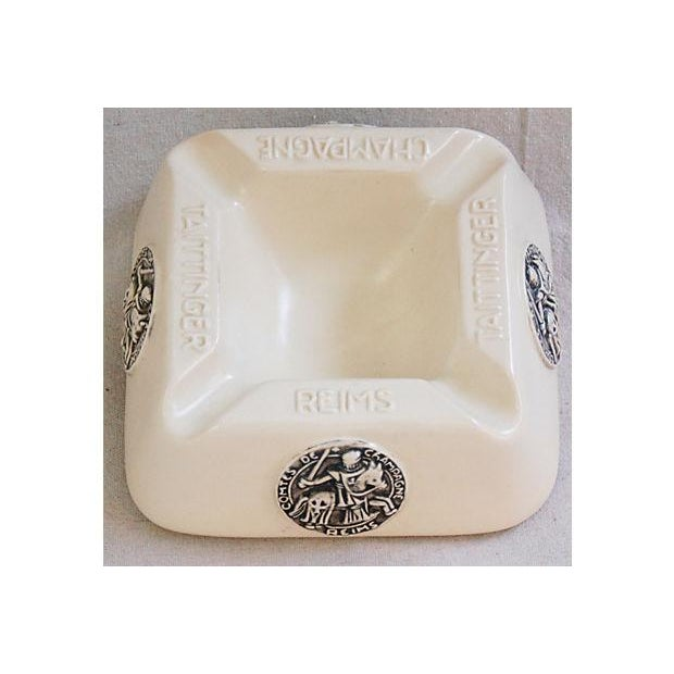 French Taittinger Champagne Cigar Ashtray - Image 8 of 8