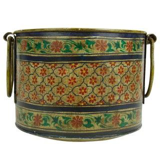 Vintage Floral Metal Bucket